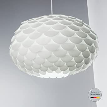 Hängelampe I Federlampe I Puzzle-Lampe I Schlafzimmer-Lampe I Weiß I ...