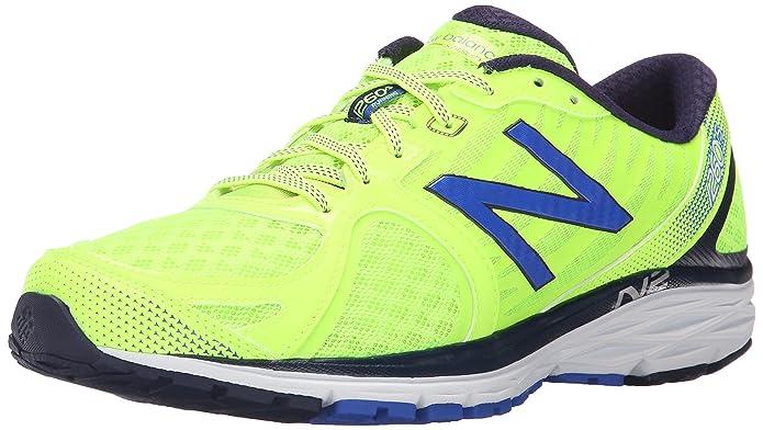New Balance Men's M1260V5 Run Shoe-M, Yellow/Blue, 7 2E US
