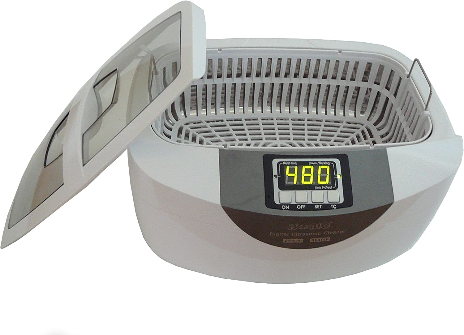 iSonic Professional Grade Ultrasonic Cleaner P4820-WPB with Heater and Digital Timer, Plastic Basket