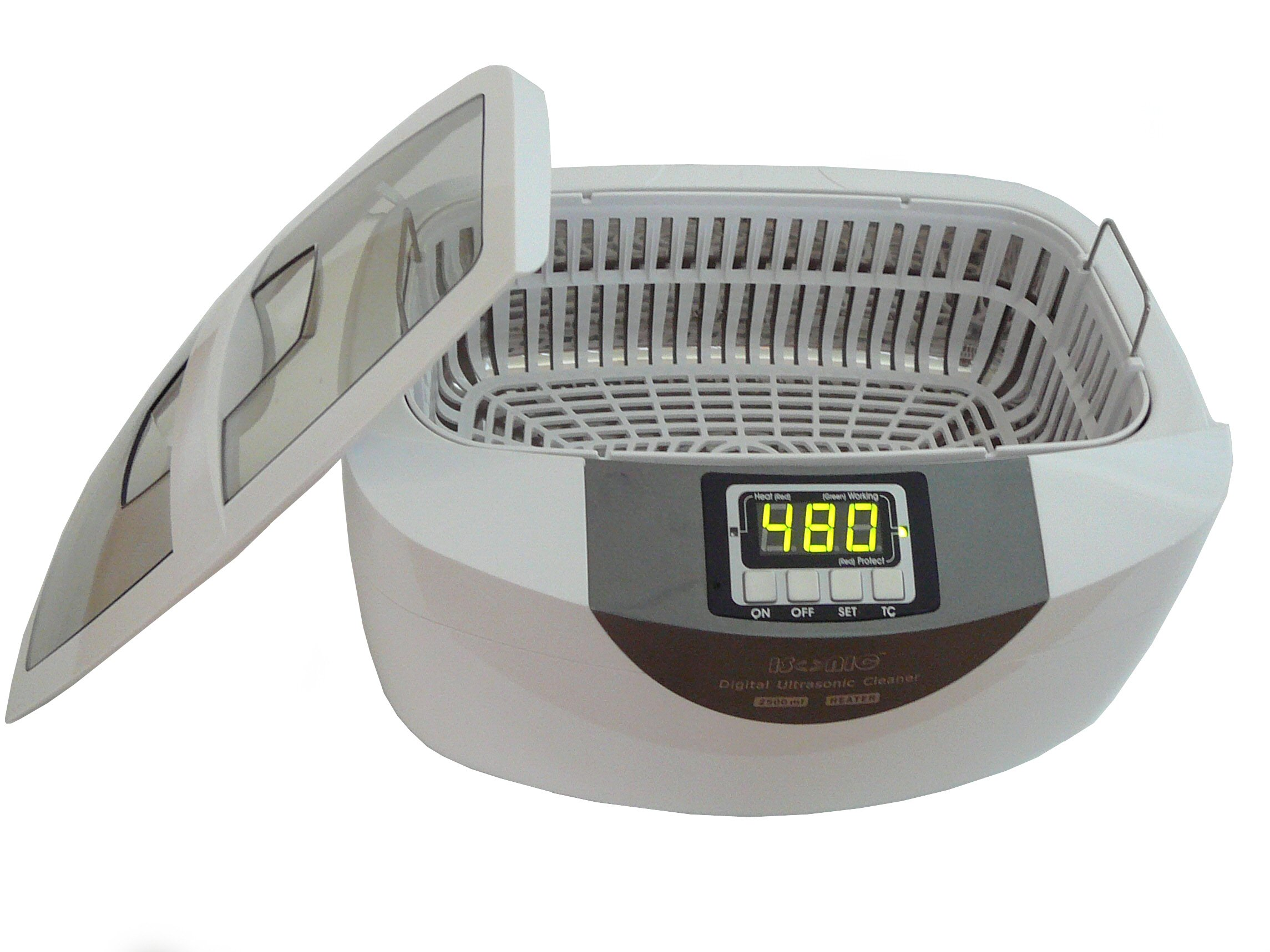 iSonic® Professional Grade Ultrasonic Cleaner P4820-WPB with Heater and Digital Timer, Plastic Basket