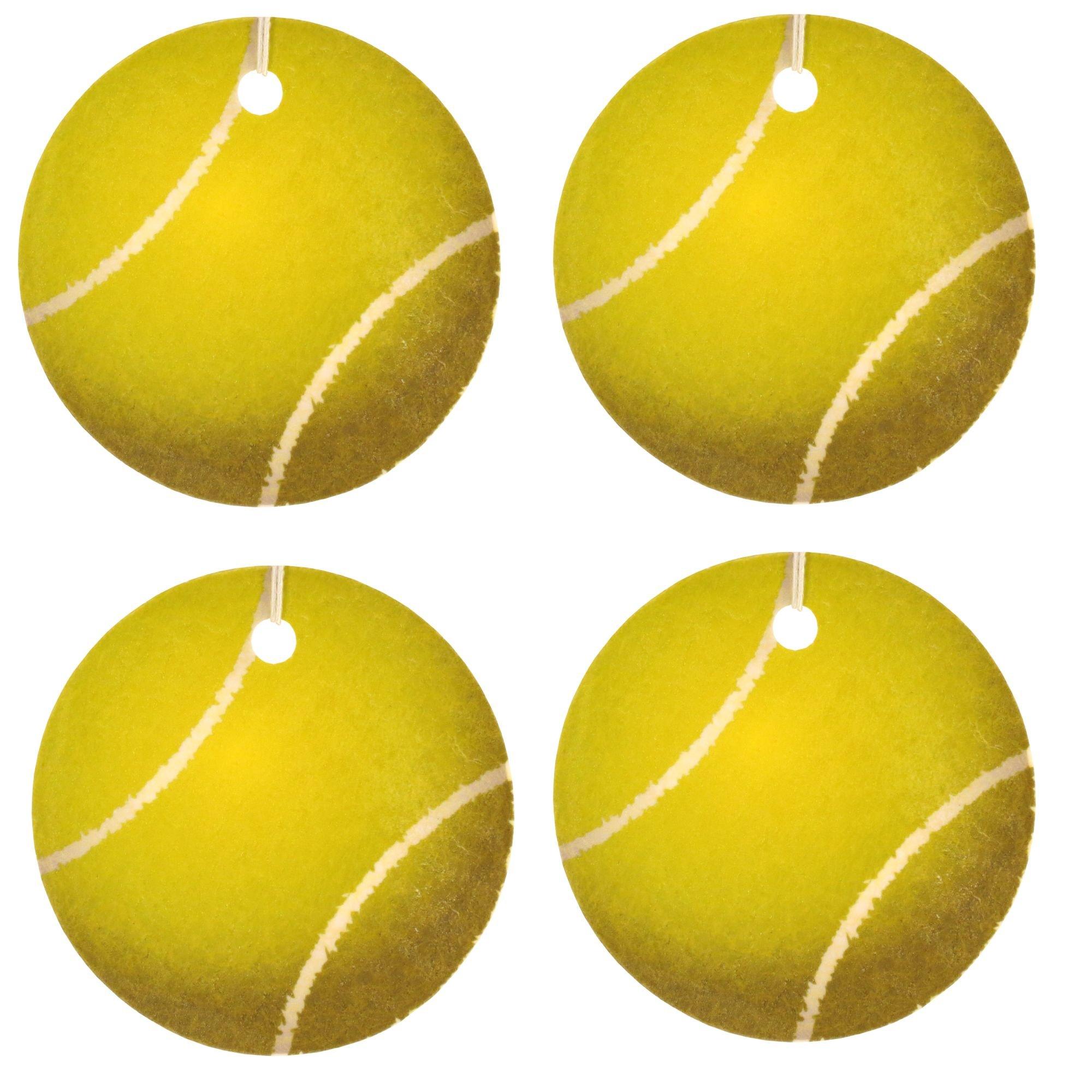 Set of Four Tennis Ball Air Fresheners, Cedarwood Essential Oil