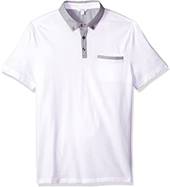Calvin Klein Hombres 40H1853 Manga Corta Camisa Polo - Blanco ...