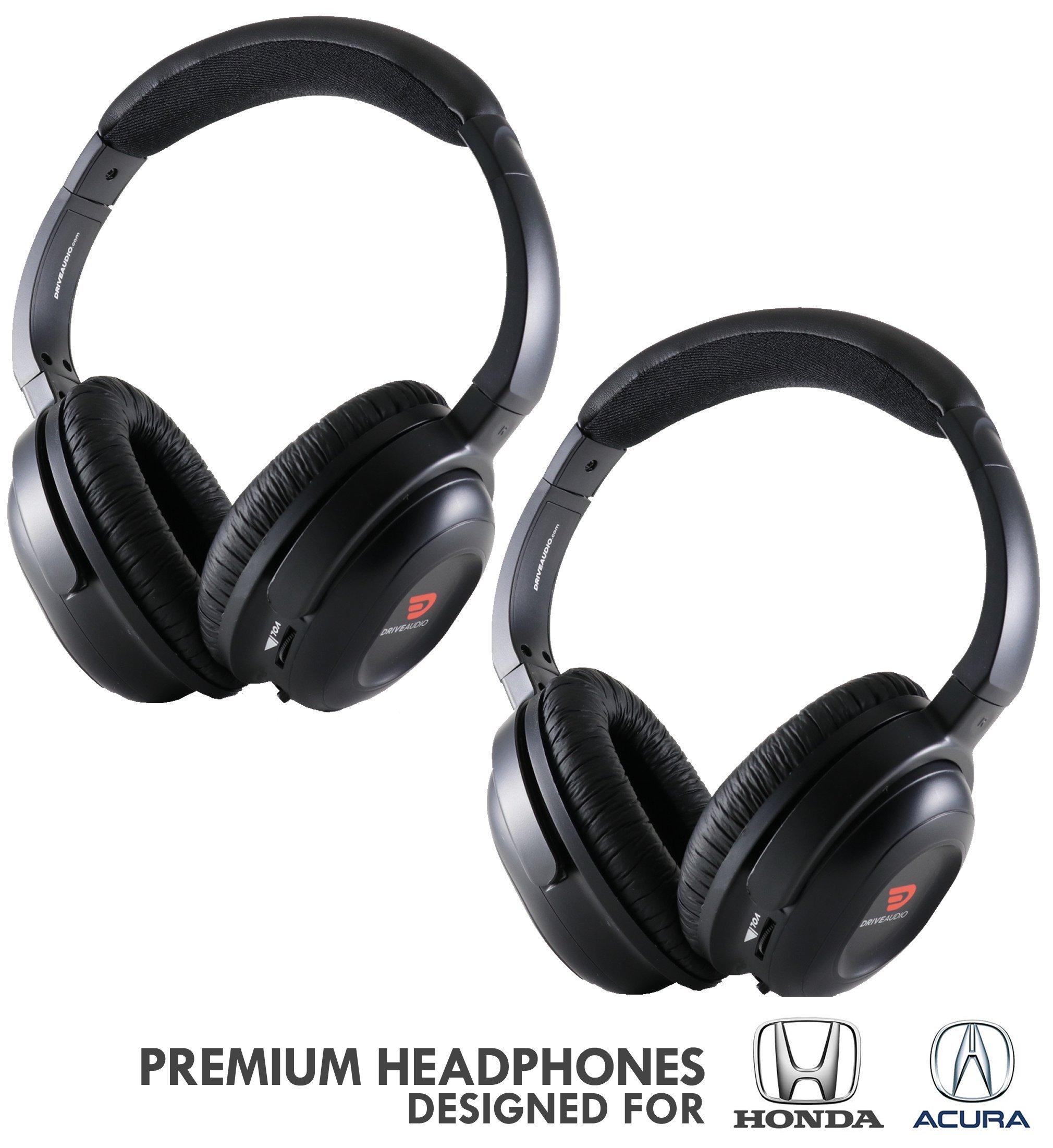 Auriculares DRIVE AUDIO Inalambrico (2 Pack) para Honda & Acura by DriveAudio - Odyssey CR-V Accord Pilot Ridgeline RDX