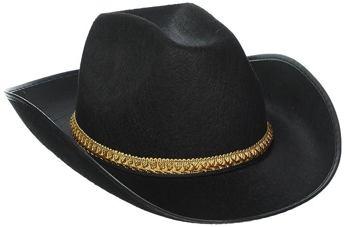 6e854eadce7aa Amazon.com  Black Felt Cowboy Hat  Clothing