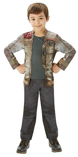 Star Wars - Disfraz de Finn Deluxe para niños, infantil talla 7-8 ...