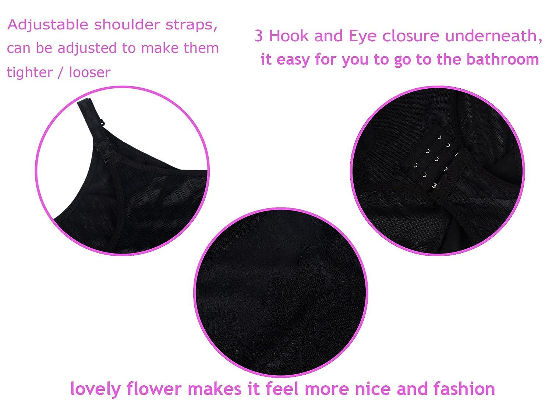 DODOING Damen Shapewear Body Shaping Bodysuit Miederslip Postnatal Erholung Bauch Weg Taillenformer Figurformender Unterw/äsche mit Haken