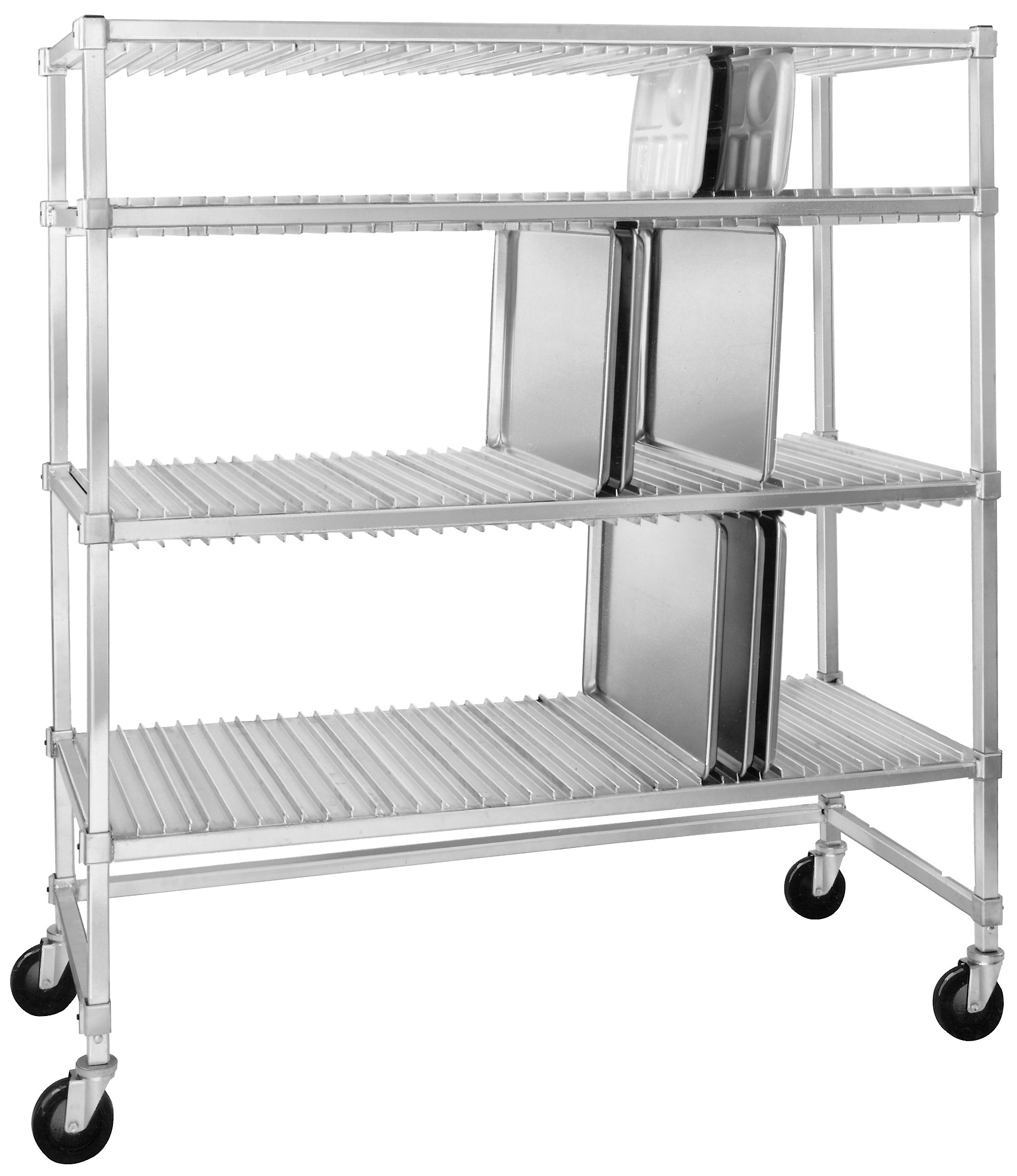 Channel Manufacturing ATDR-3 Aluminum Tray Drying Rack - 60'' x 63'' x 30''