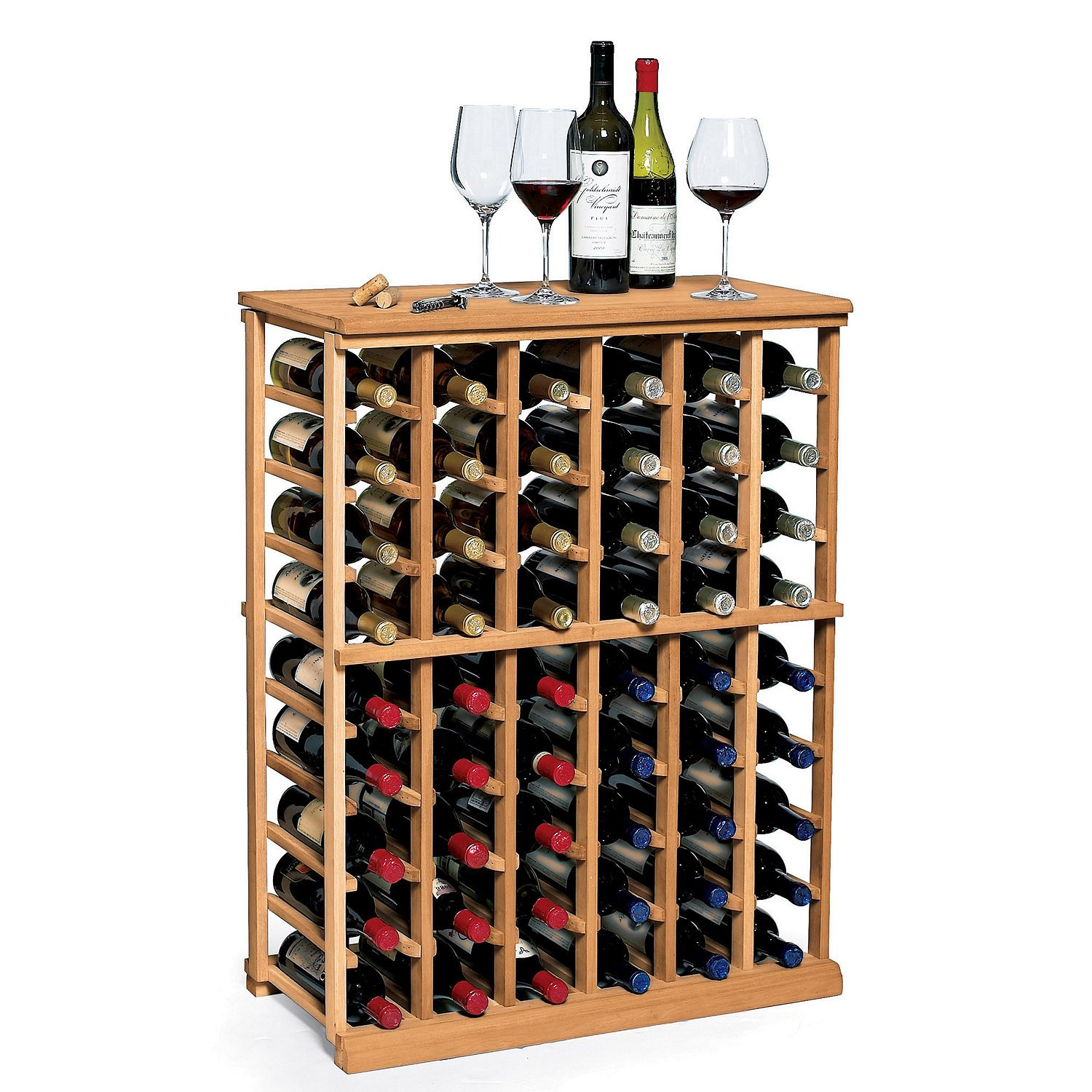 N'FINITY Wine Rack Kit - 6 Column Half Height -Natural Finish - Solid Mahogany by N'FINITY