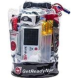 GETREADYNOW Personal 72-Hour Grab & Go Survival Kit Emergency Essentials for 3 Days - Hurricane, Earthquake, Flood, Tornado Disaster Preparedness - Heavy Duty Waterproof Bag