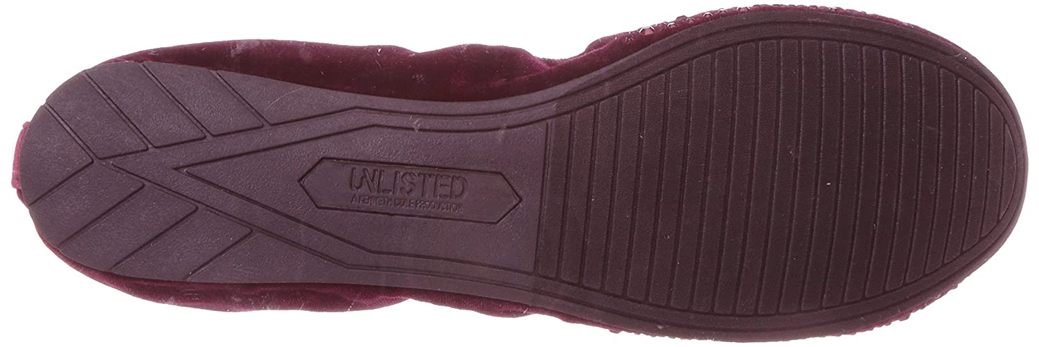 Unlisted by Kenneth Cole Ballet Women's Whole Sparkle Glitzy Ballet Cole Flat B06ZZTR9K5 8.5 M US|Burgundy ddf4af