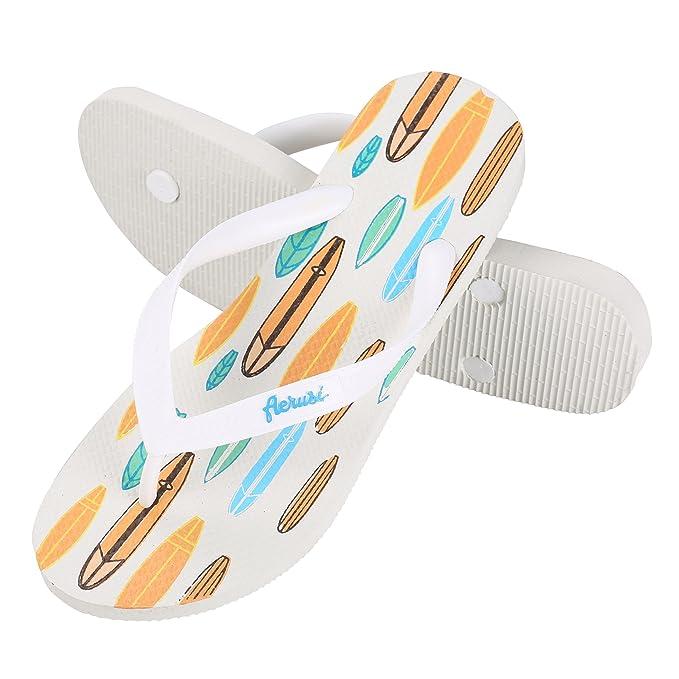 6519e643f Aerusi SEO084041 Ocean Corte Series Surf Board Design Flip Flop Sandals