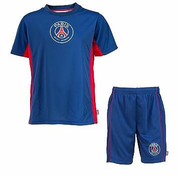 PSG - Juego de camiseta y pantalones cortos para niño, diseño del Paris Saint Germain azul azul Talla:14 años: Amazon.es: Deportes y aire libre