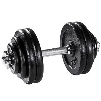TecTake Mancuerna con pesas halteras de fitnes acero hierro musculación gimnasio - varios modelos - (30kg | no. 402367): Amazon.es: Deportes y aire libre