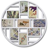 Umbra 311120-660 Luna 9-Opening Collage Wall Frame, White