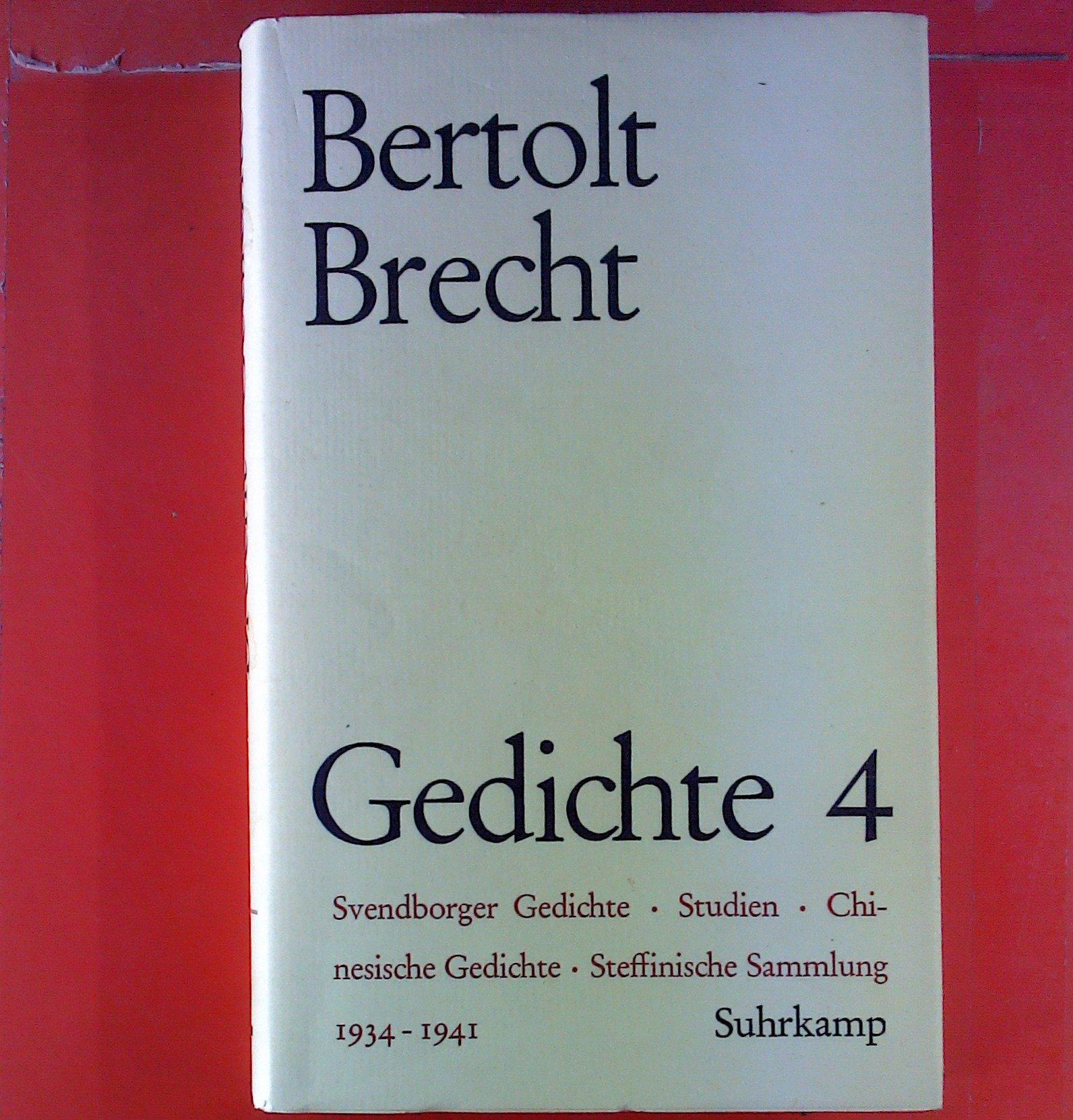 Brecht gedichte sammlung