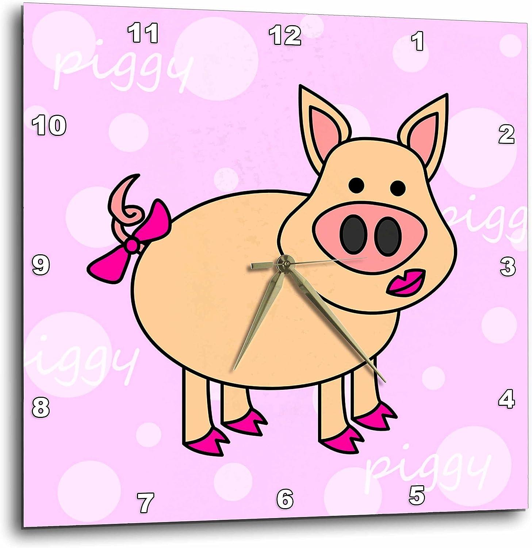3dRose Queen of The Cats Desk Clock 6 x 6 Pink