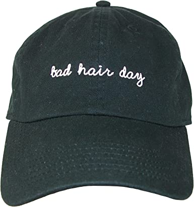 Bad Hair Day Embroidered base ball cap hat in 9 Colours