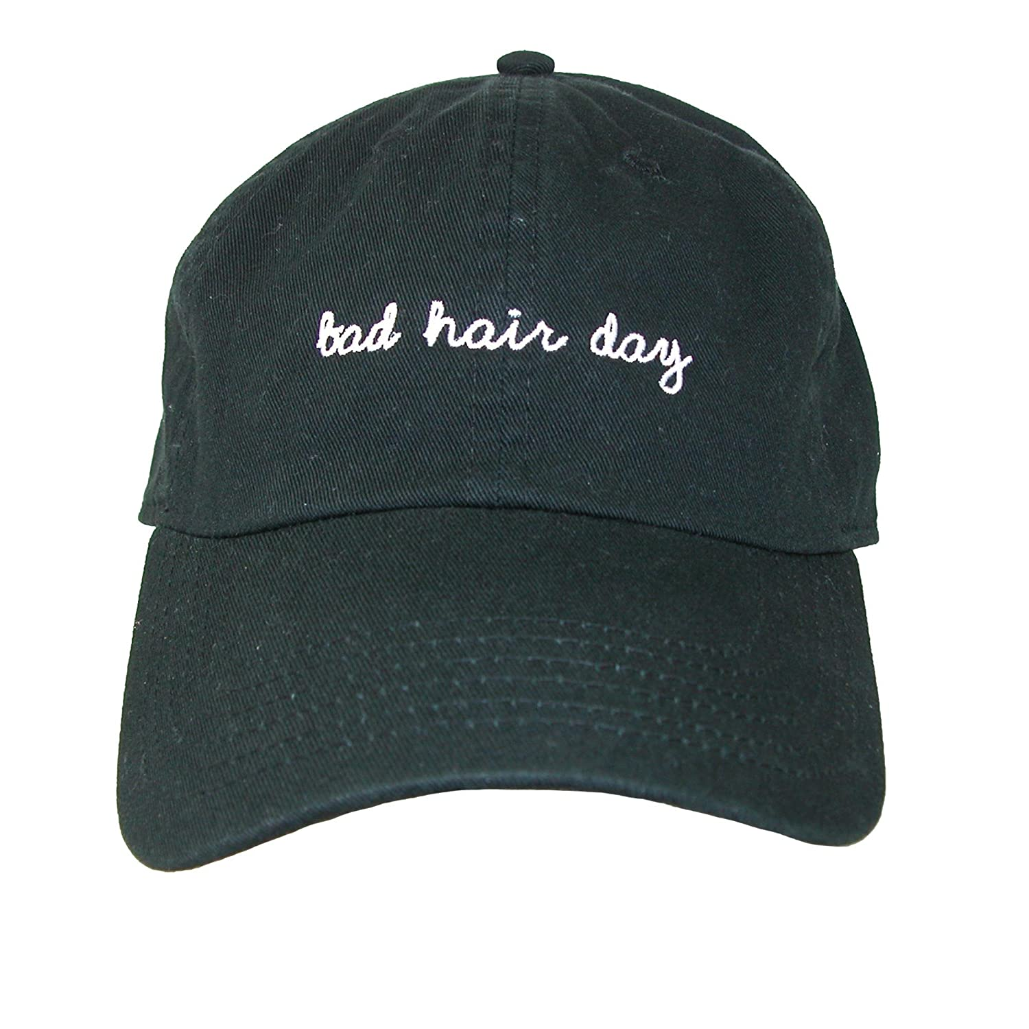 dba53d0cb56ce6 David & Young Bad Hair Day Embroidered Cotton Baseball Cap, Black at Amazon  Women's Clothing store: