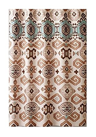 bhp window southwestern western curtain brown tan fabric valance curtains cotton ebay
