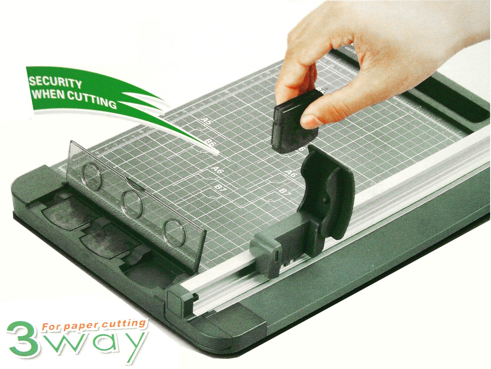 Renewed Rotary Paper Cutter 1112 SmartCut 12 Cut Length Compact Personal Swingline Paper Trimmer 5 Sheets Capacity
