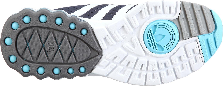 adidas Originals Mega Softcell R, Chaussures lifestyle baskets mode homme Indigo foncéBlancAqua clair, 40 23 EU