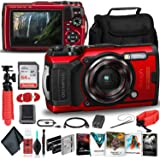 Olympus Tough TG-6 Waterproof Camera (Red) - Adventure Bundle - with 2 Extra Batteries + Float Strap + Sandisk 64GB…