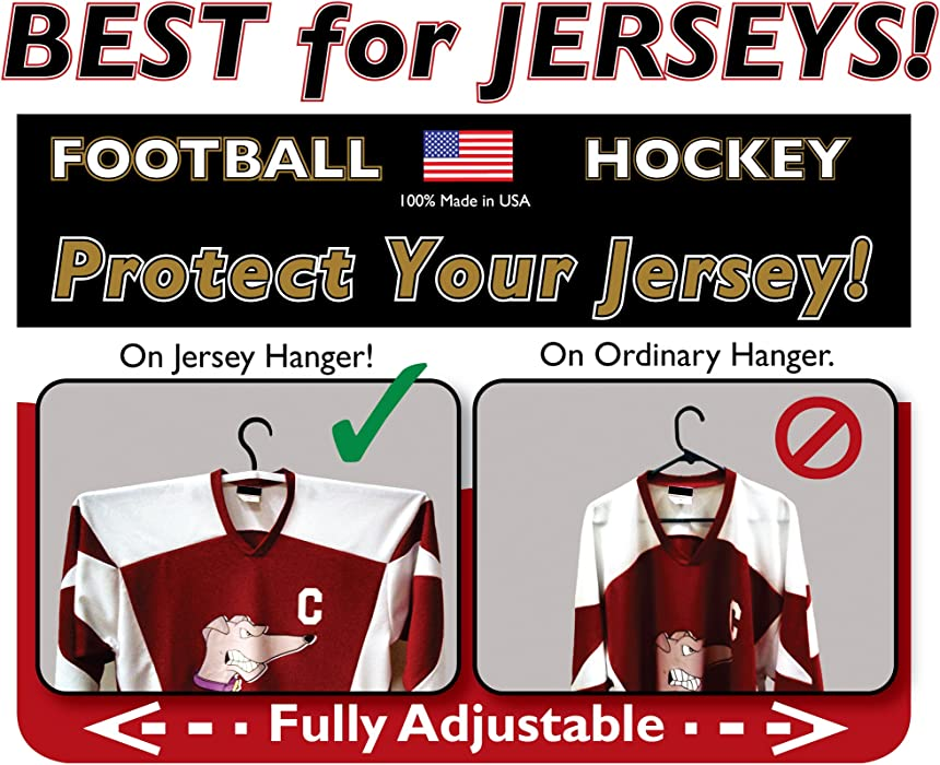 a7498fc01 Amazon.com  Two Complete Jersey Hangers  Clothing