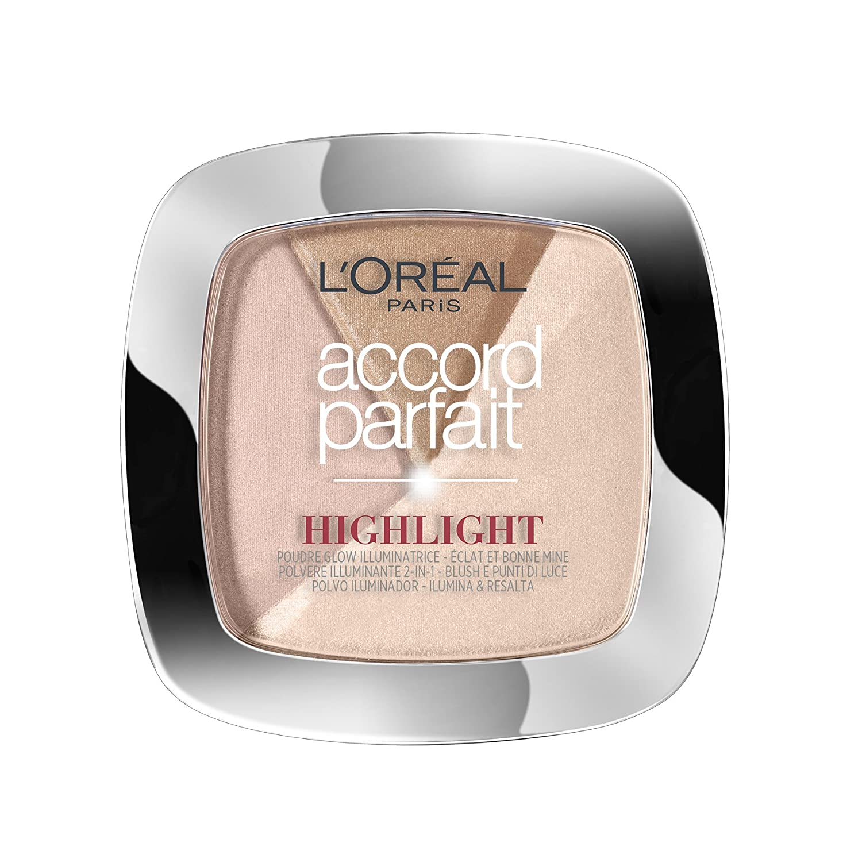 L OREAL PARIS Make up designer designer accord parfait highlight poudre 302.r éclat rosé glacé L'Oréal Paris Make Up Designer