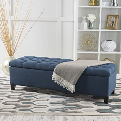 Amazon.com: Upholstered Tufted Storage Ottoman with Lift Top ...