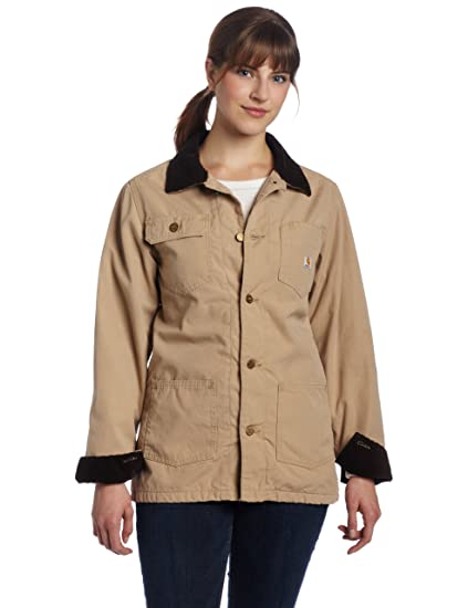 Carhartt Women S Flannel Lined Chore Coat Cork Closeout X Large