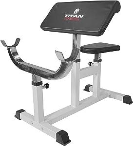 Titan Fitness Preacher Curl Bench