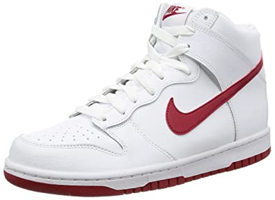 377bc1020426 Nike Dunk Hi Men s Shoes White Gym Red Blanc Rouge Gym 904233-102