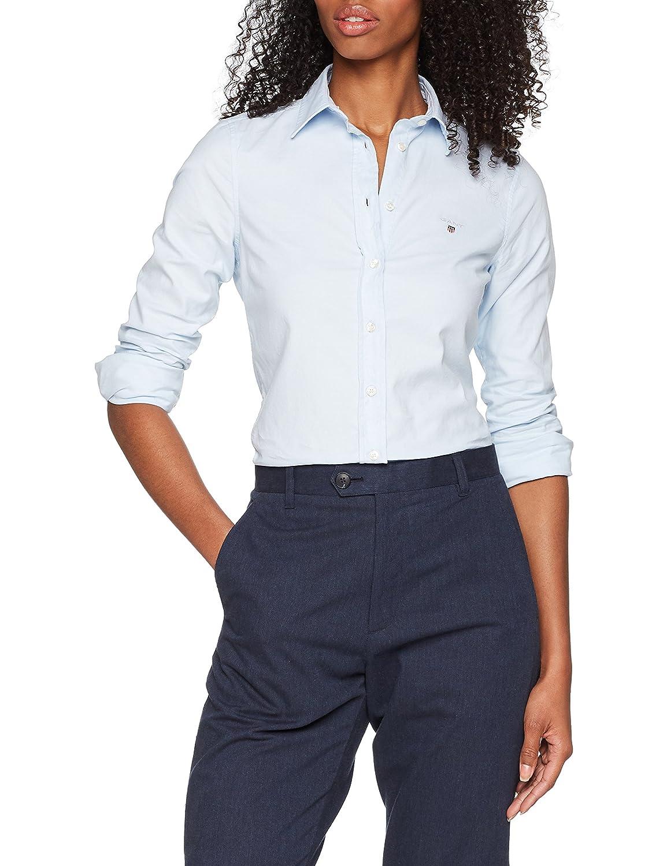 TALLA 36 (Talla del fabricante: 34). Gant Stretch Oxford-Solid Shirt, Camisa para Mujer