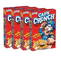Deals on 4-Pk Quaker Capn Crunch Breakfast Cereal Original 14Oz