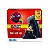 Philips Volks-Senseo HD6554/69 Kaffeepadmaschine (Sonderedition 100 Pad Promotion und 2 Gläser gratis) schwarz