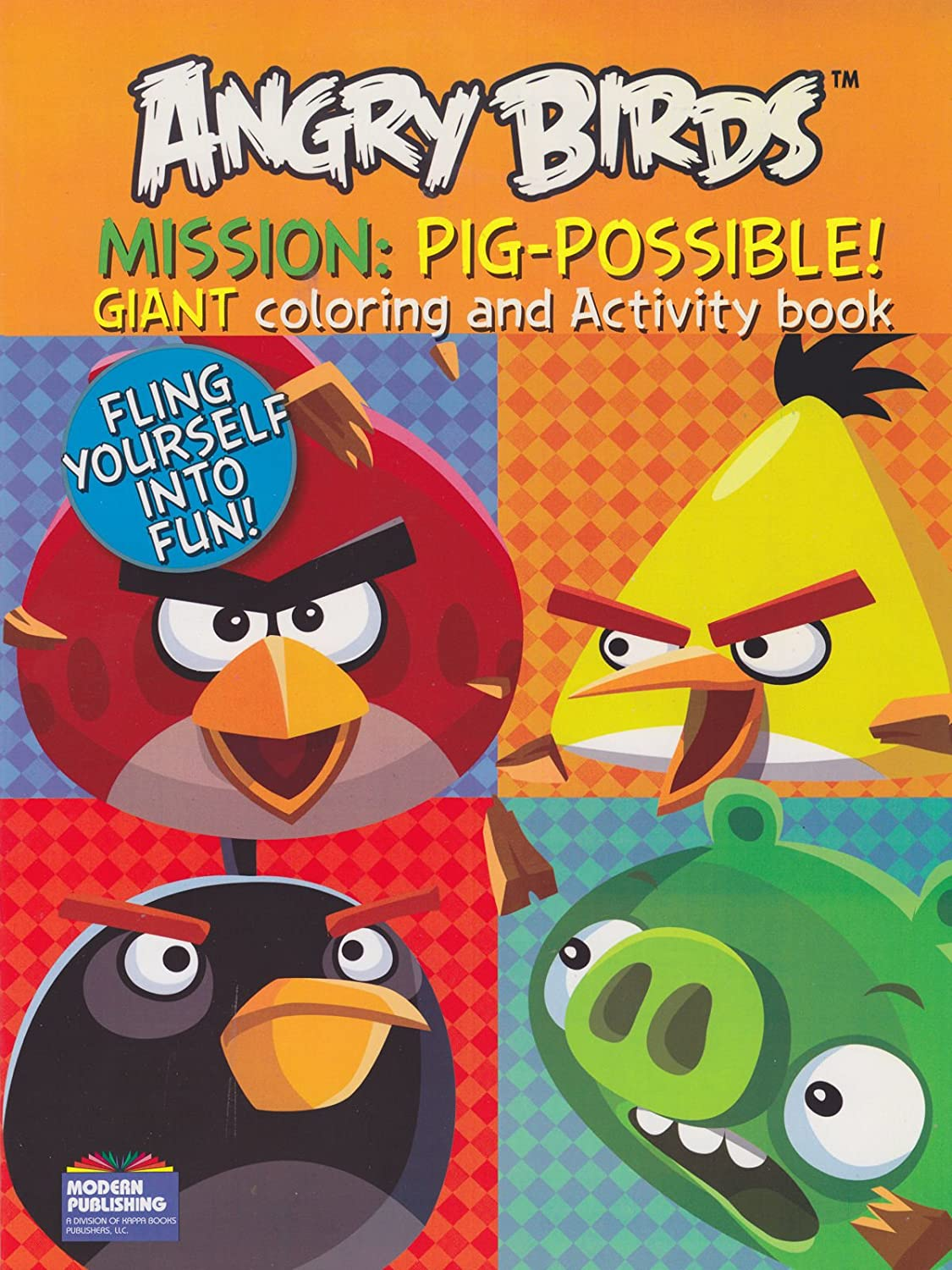 Amazon Angry Birds Coloring Book Mission Pig Possible With 96 Pages By Modern Publishing Toys Games