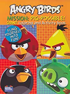 """Angry Birds Coloring Book """"Mission: Pig-Possible!"""" with 96 Pages by Modern Publishing"""