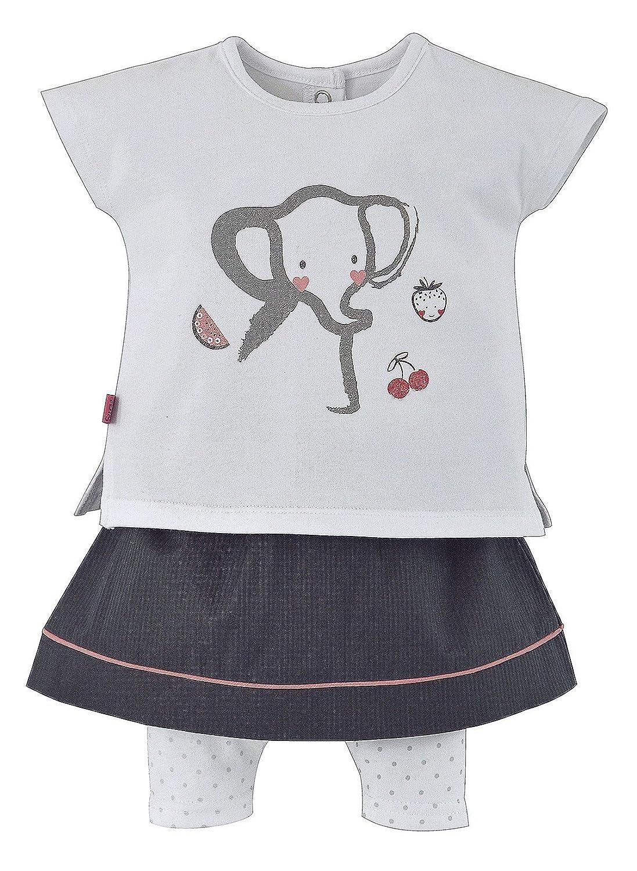 Sucre D'Orge - skirt - Féminin - 1 - ensemble jupe anthracite - Taille 1 Mois - Couleur Gris Sucre D' Orge