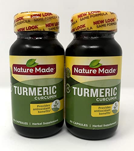 Nature Made Turmeric Curcumin 500 Milligram 60 Capsules Pack of 2
