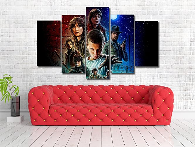 Amazon.com: Stranger things Tv Framed Canvas Print - Wall Art ...