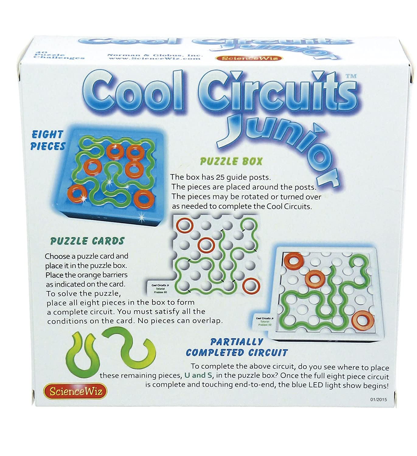 Sciencewiz Cool Circuits Jr Puzzle Game Toys Games Complete The Circuit