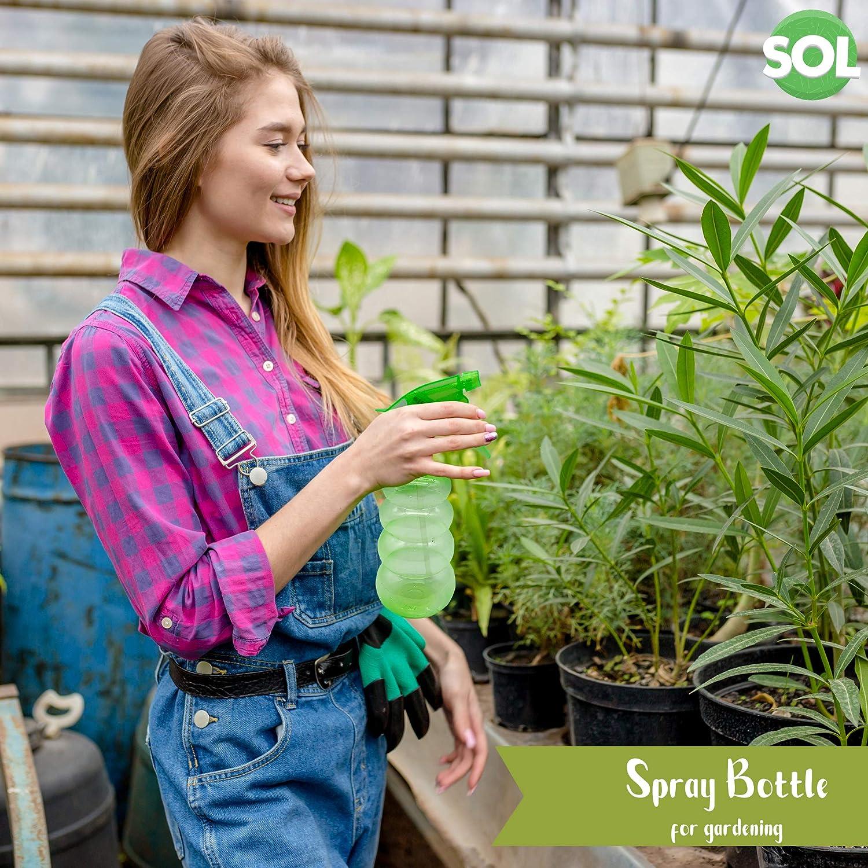 Plastic Spray Watering Uk Hand Tool Sprayer for Pet Includes Gardening E-Book Garden Plants Salon Water Bottle Garden Empty Spray Cleaning 2pk Spray Bottle 600ml