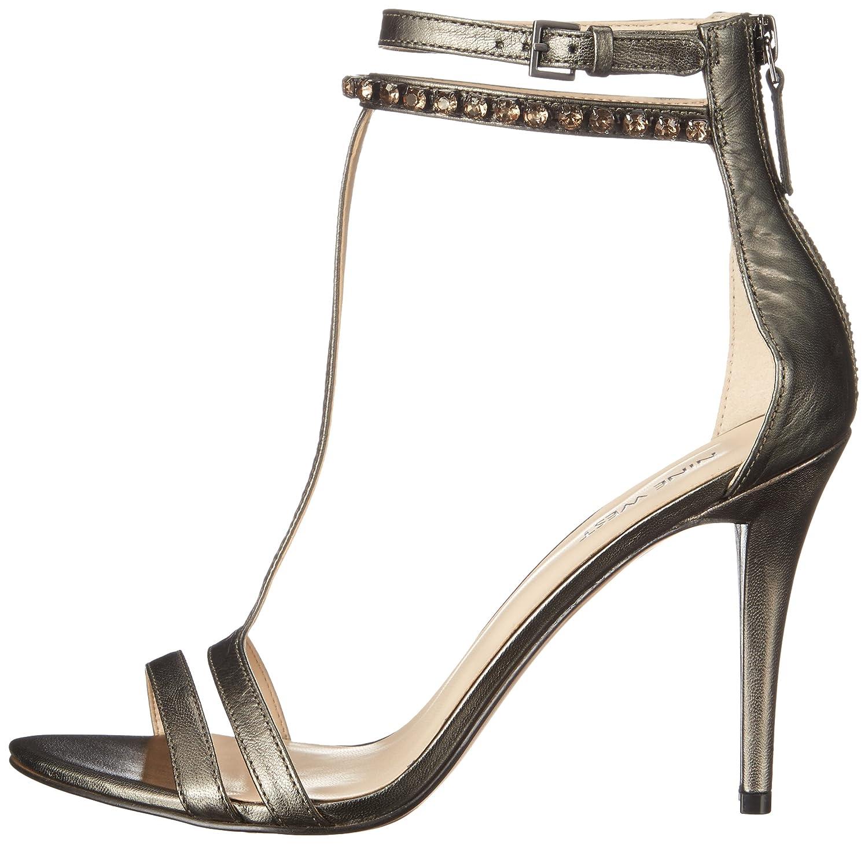 Nine West Womens Dana Metallic Heeled Sandal
