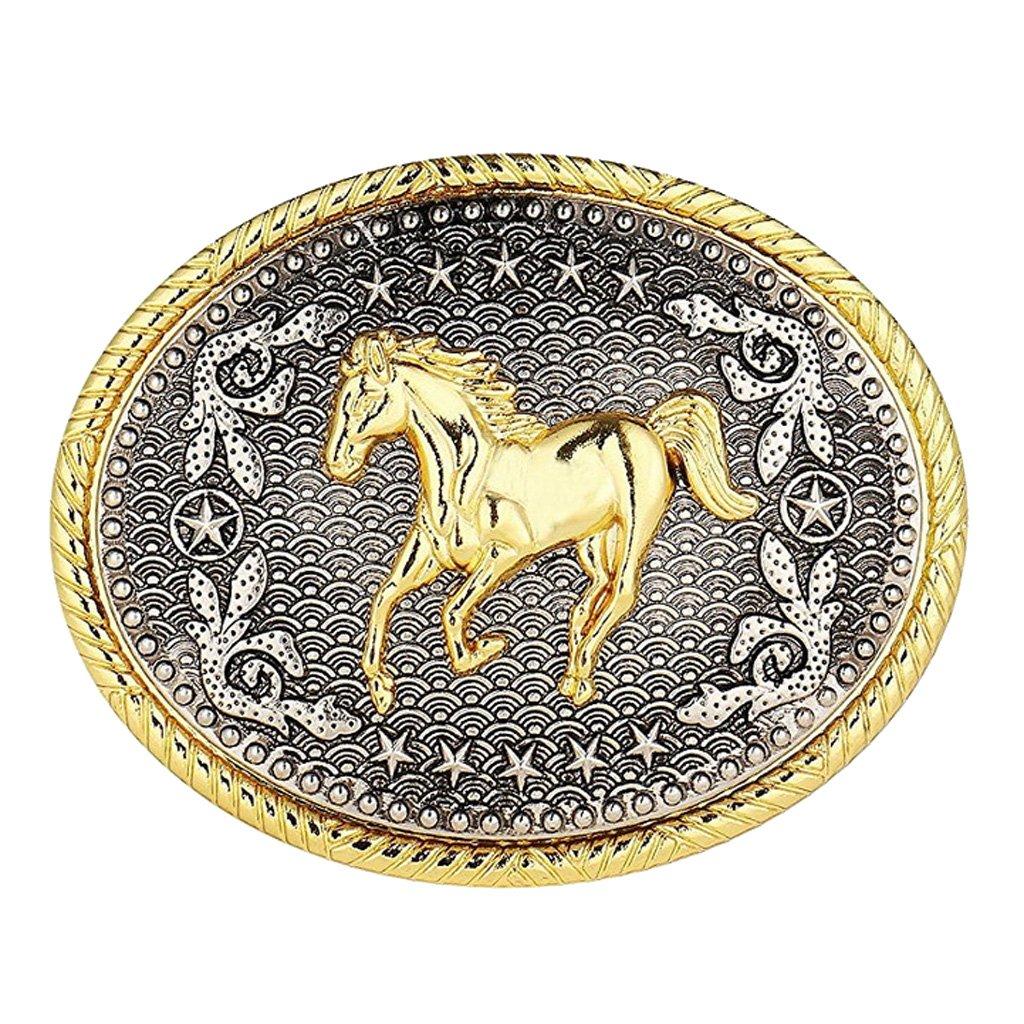 perfeclan cavallo da corsa in rodeo con fibbia ovale in rilievo rodeo western cowboy