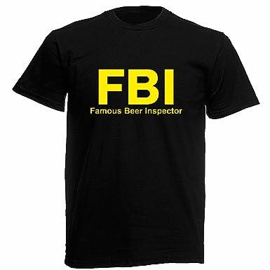 Lamaglieria Herren T Shirt F B I Famous Beer Inspector Fun T