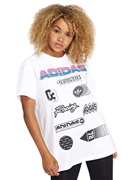 Adidas JUL Graphic tee - Camiseta, Mujer, Blanco(Blanco)