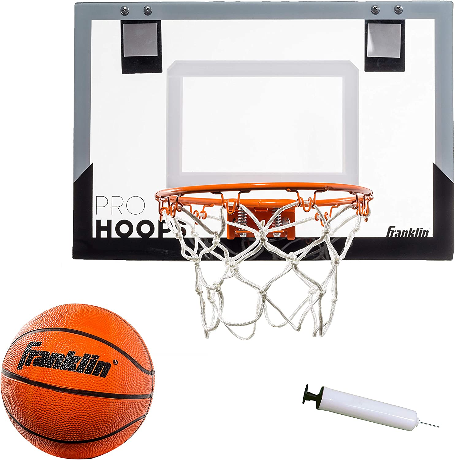 Franklin Sports 54132X Over The Door Mini Basketball Hoop - Slam Dunk Approved - Shatter Resistant - Accessories Included : Sports & Outdoors