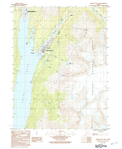 Amazon.com: Alaska Maps | 1991 Skagway, AK USGS Historical ...
