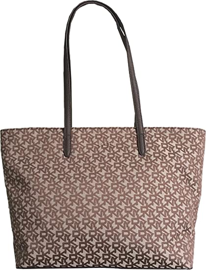 DKNY Canvas and Saffiano Leather Shoulder Tote Bag in Chino  Amazon.co.uk   Luggage 2ae174788a54b