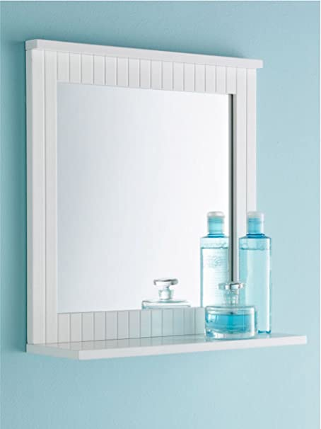 Bathroom Mirror With Shelf Amazon Co Uk Kitchen Home